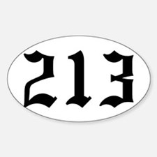 """""""213"""" Oval Decal"""