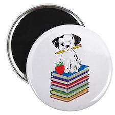 """Dog on Books 2.25"""" Magnet (10 pack)"""