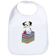 Dog on Books Bib