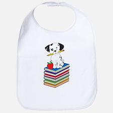 Dog on Books Bib