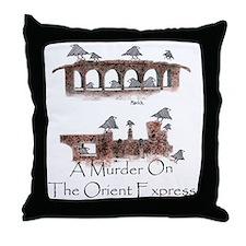A Murder on the Orient Express Throw Pillow