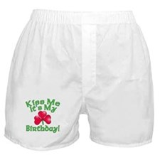Kiss Me It's My Birthday St. Pat's Boxer Shorts