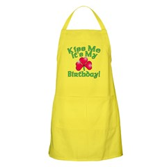 Kiss Me It's My Birthday St. Pat's Apron