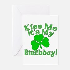 Kiss Me It's My Irish Birthday Greeting Cards (Pk