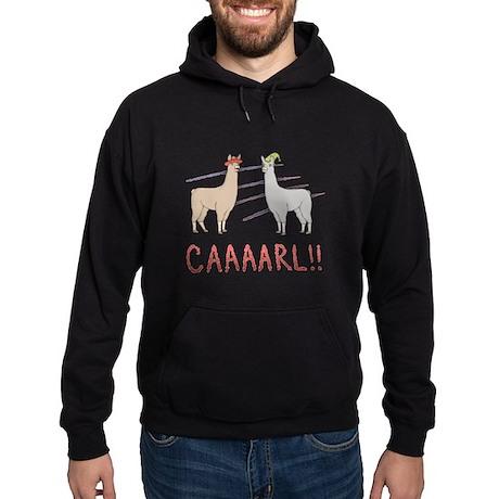 """Llamas """"Caaarl!"""" Hoodie (dark)"""