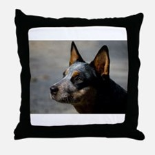 Cute Cattle dog rescue Throw Pillow