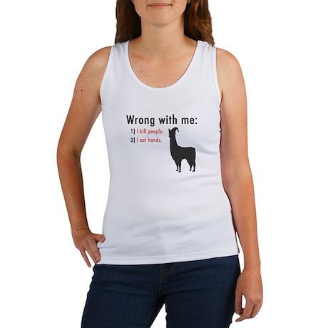 """Llamas """"Wrong with me"""" Women's Tank Top"""