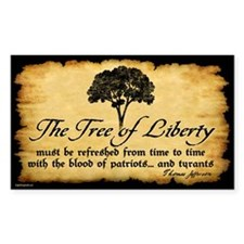 Tree of Liberty Quote - T. Jefferson Decal
