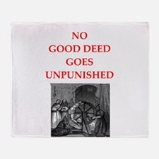 good deed Throw Blanket