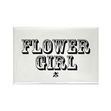 Flower Girl - Old West Rectangle Magnet