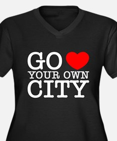 Unique Cities your city Women's Plus Size V-Neck Dark T-Shirt