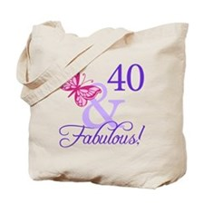 40th Birthday Butterfly Tote Bag