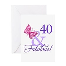 40th Birthday Butterfly Greeting Card