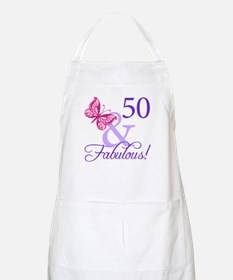 50th Birthday Butterfly Apron