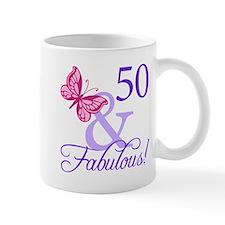 50th Birthday Butterfly Mug