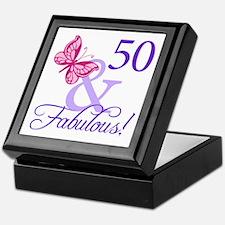 50th Birthday Butterfly Keepsake Box