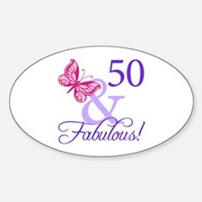 50th Birthday Butterfly Decal