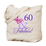 60th birthday Canvas Bags