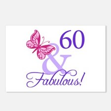 60th Birthday Butterfly Postcards (Package of 8)