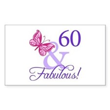 60th Birthday Butterfly Decal