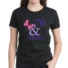 70th Birthday Butterfly Tee