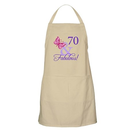 70th Birthday Butterfly Apron