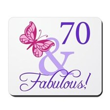 70th Birthday Butterfly Mousepad