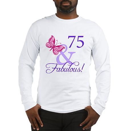 75th Birthday Butterfly Long Sleeve T-Shirt