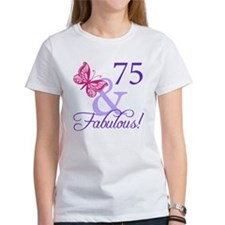 75th Birthday Butterfly Tee