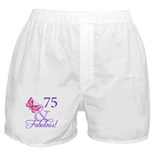 75th Birthday Butterfly Boxer Shorts