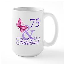 75th Birthday Butterfly Mug