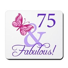 75th Birthday Butterfly Mousepad