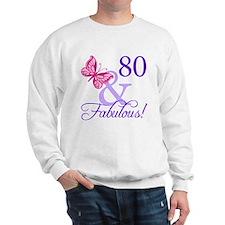 80th Birthday Butterfly Sweatshirt