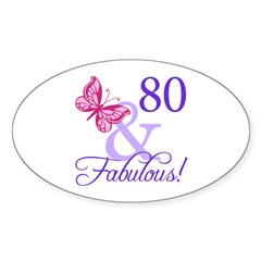 80th Birthday Butterfly Decal
