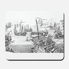 Kublai Khan Fleet Mousepad