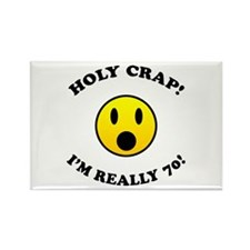 Holy Crap 70th Birthday Rectangle Magnet (10 pack)
