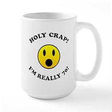Holy Crap 70th Birthday Mug