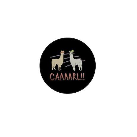 """Llamas """"Caaaarl!"""" Mini Button"""