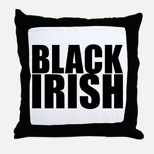 Black Irish 3 Throw Pillow
