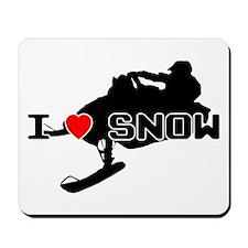I Heart Snow Mousepad