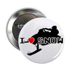 "I Heart Snow 2.25"" Button"