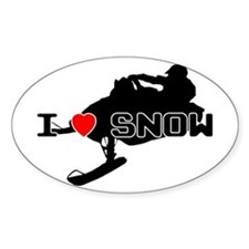 I Heart Snow Decal