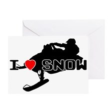 I Heart Snow Greeting Card