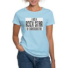 Rock Star In Turkmenistan Women's Pink T-Shirt
