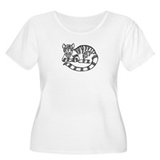 Knot Striped Black Cat T-Shirt