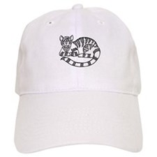 Knot Striped Black Cat Baseball Cap
