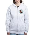 French Mondain Pigeon Women's Zip Hoodie