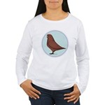 French Mondain Pigeon Women's Long Sleeve T-Shirt