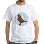 French Mondain Pigeon White T-Shirt