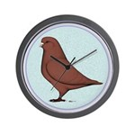 French Mondain Pigeon Wall Clock